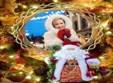 Papai Noel Musical Moldura