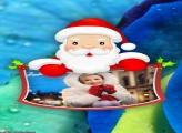 Desenho de Natal Papai Noel Moldura