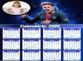 Calendário do Neymar 2019