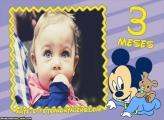 Mickey Baby 3 Meses Moldura