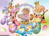 Páscoa da Disney Moldura