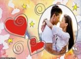Loucos Corações Foto Moldura